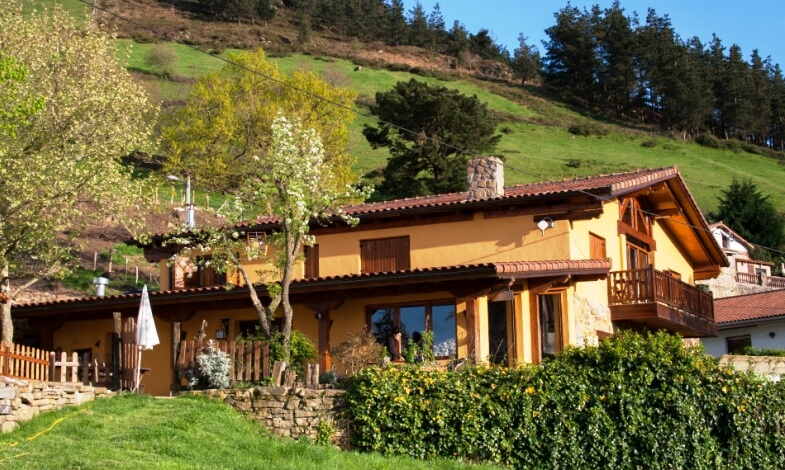 Casa rural Gailurretan en Bizkaia